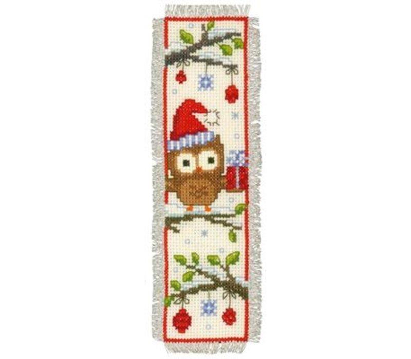 Bladwijzer kit Uiltjes met kerstmuts set van 2