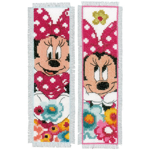 Vervaco Bladwijzer kit Disney Minnie dagdroomt set van 2