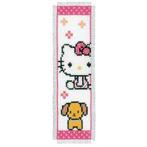 Vervaco Bladwijzer kit Hello Kitty met hondje set van 2