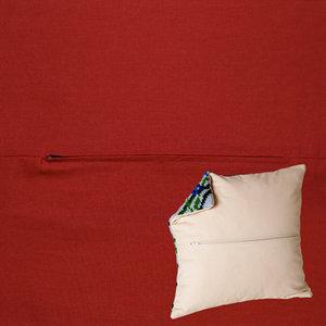 Duftin Kussenrug 45 x 45 cm Bordeaux Rood