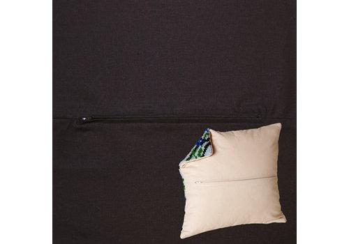 Duftin Kussenrug 45 x 45 cm Zwart
