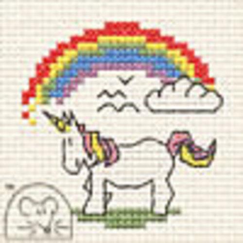 Mouseloft Borduurpakket Unicorn with Rainbow - Mouseloft