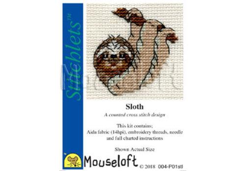 Mouseloft Borduurpakket Sloth - Mouseloft