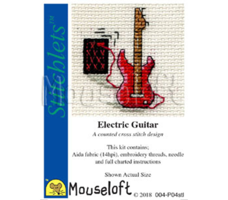Borduurpakket Electric Guitar - Mouseloft