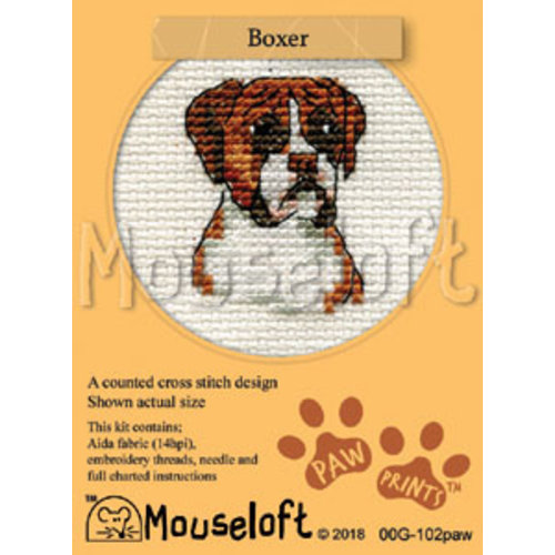 Mouseloft Borduurpakket Boxer - Mouseloft