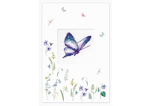 Luca-S Postcard Butterfly Pink