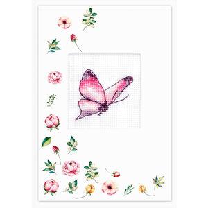 Luca-S Postcard Butterfly Purple
