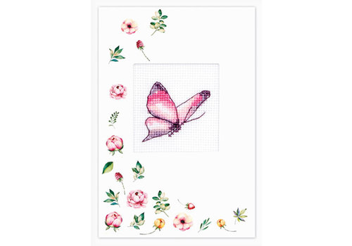 Luca-S Postcard Butterfly Purple