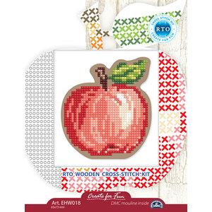 RTO Borduurpakket RTO Houten Geperforeerde Vorm - Appels