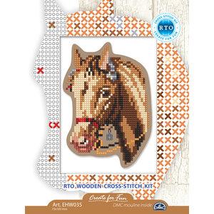 RTO Borduurpakket RTO Houten Geperforeerde Vorm - Paard