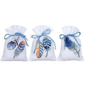 Vervaco Kruidenzakje kit Blauwe pluimpjes set van 3
