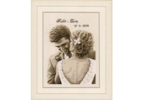Vervaco Telpakket kit Huwelijksgeluk - Kate & Tom
