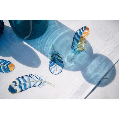 Vervaco Kleed kit Blauwe Pluimpjes