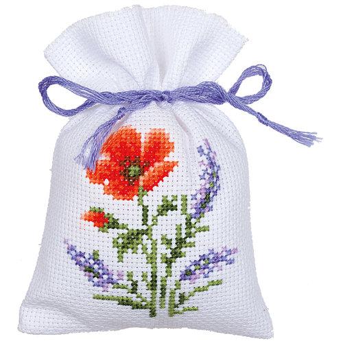 Vervaco Kruidenzakje kit Bloemen en Lavendel set van 3