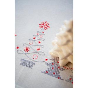 Vervaco Kleed kit Kerstbomen in Rood