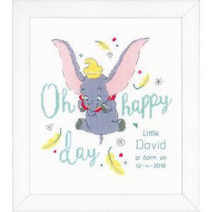 Vervaco Telpakket kit Geboortetegel Disney Dumbo Oh happy day: David