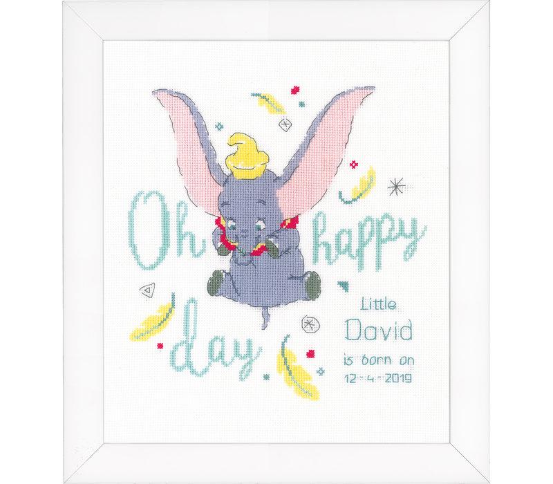 Telpakket kit Geboortetegel Disney Dumbo Oh happy day: David