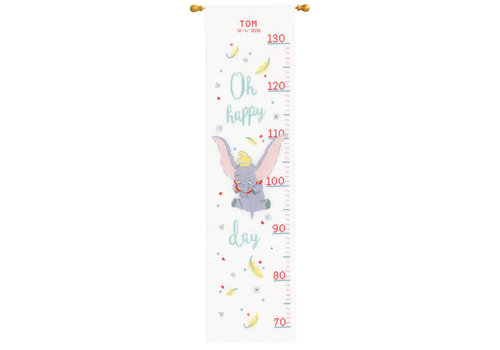 Vervaco Telpakket kit Groeimeter Disney Dumbo Oh happy day: Tom