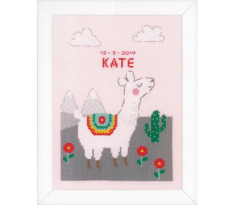 Telpakket kit Geboortegel Leuke lama: Kate
