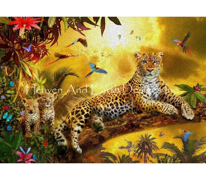 Jan Patrik Krasny: Leopard with Cubs
