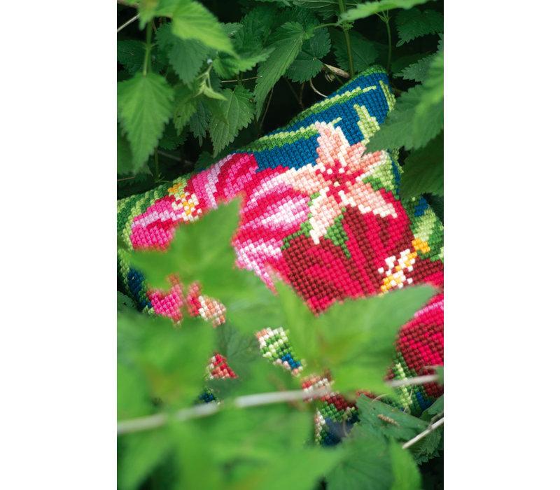 Kruissteekkussen kit Bloemen Botanical