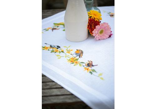 Vervaco Tafelkleed kit Tuinvogels tussen bloesem