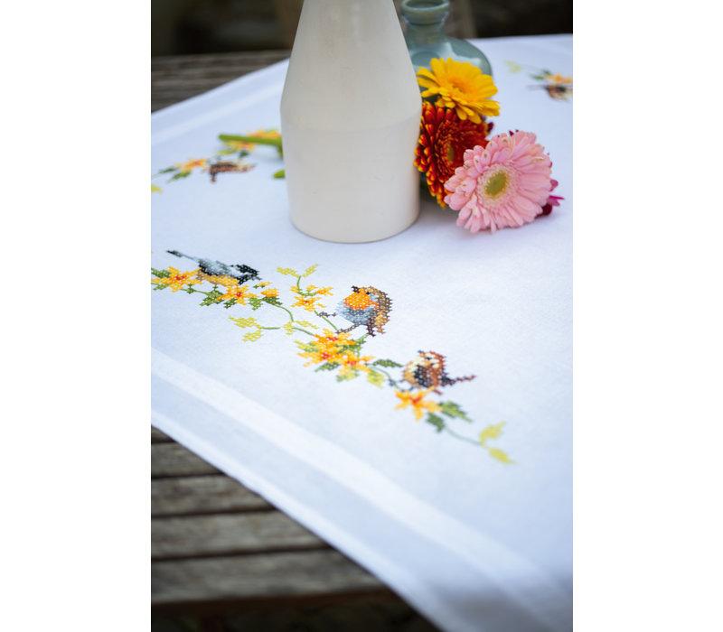 Tafelkleed kit Tuinvogels tussen bloesem