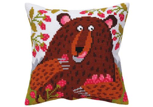 Collection d'Art Kussenpakket Bear in Raspberry - Collection d'Art