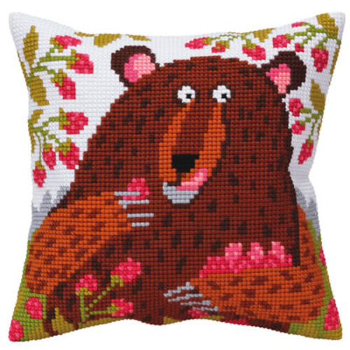 Collection d'Art Kussenpakket Bear in Raspberry - Collection d'Art