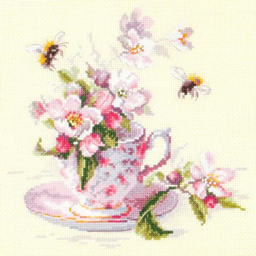 Chudo Igla Borduurpakket Cup and Apple Blossom - Chudo Igla