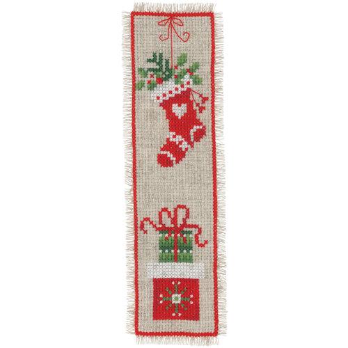Vervaco Bladwijzer kit Kerstmotiefjes set van 2