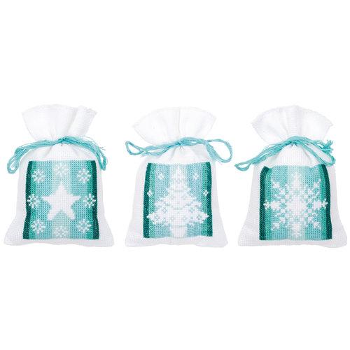 Vervaco Kruidenzakje kit Nordic Christmas set van 3