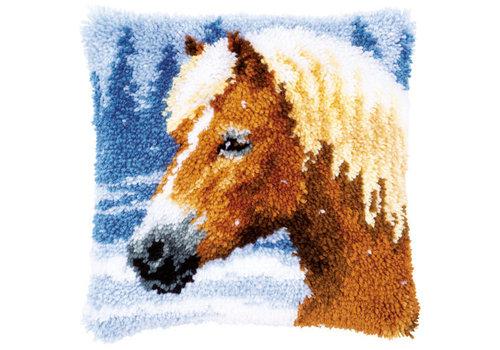 Vervaco Knoopkussen Paard in de Sneeuw