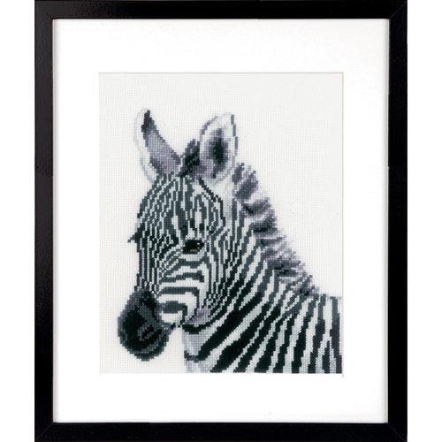 Vervaco Telpakket kit Zebra