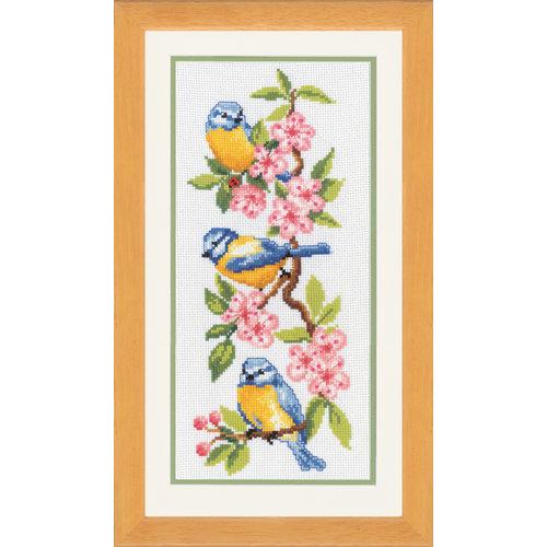 Vervaco Telpakket kit Vogels op bloesems