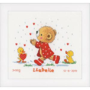 Vervaco Telpakket kit Geboortetegel Hartjes Vangen: Isabelle