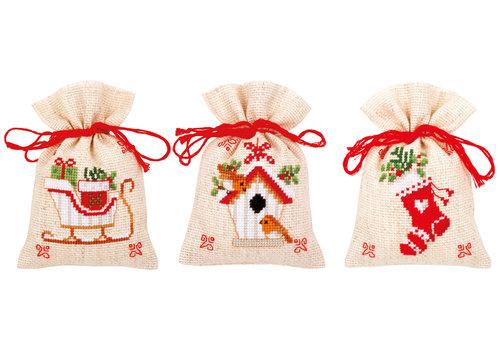 Vervaco Kruidenzakje kit Kerstmotiefjes set van 3
