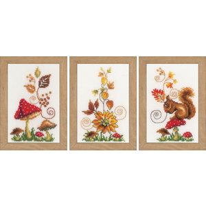 Vervaco Miniatuur kit Herfst set van 3