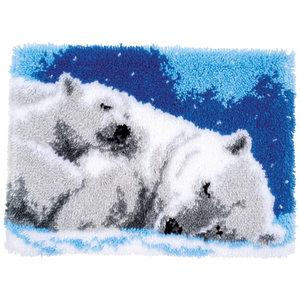 Vervaco Knooptapijt kit Slapende ijsberen