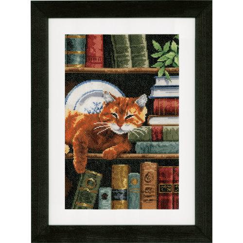 Vervaco Telpakket kit Boekenrek met kat