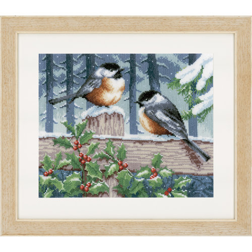 Vervaco Telpakket kit Vogels in de winter