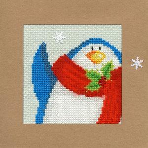 Bothy Threads Kerstkaart Bothy Threads - Snowy Penguin