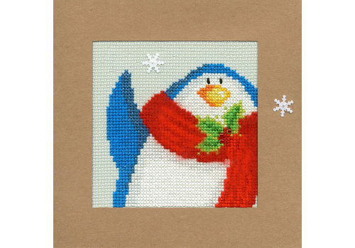 Bothy Threads Kerstkaart Bothy Threads - Snowy Penguin