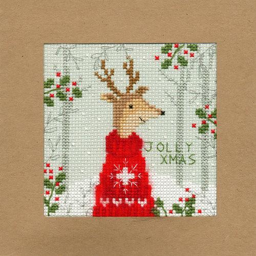Bothy Threads Kerstkaart Bothy Threads - Xmas Deer