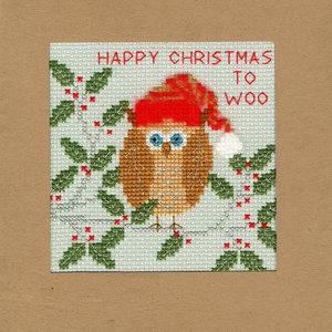 Bothy Threads Kerstkaart Bothy Threads - Xmas Owl