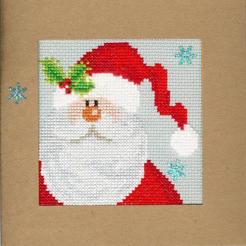 Bothy Threads Kerstkaart Bothy Threads - Snowy Santa