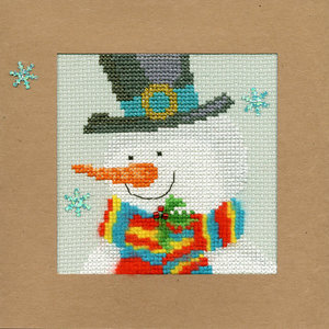 Bothy Threads Kerstkaart Bothy Threads - Snowy Man