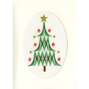 Bothy Threads Kerstkaart Bothy Threads - Christmas Tree