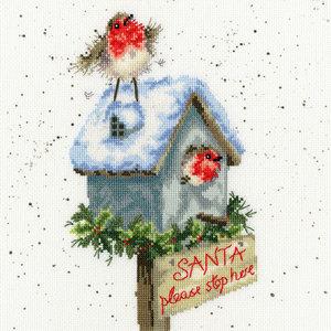 Bothy Threads Hannah Dale - Santa Please Stop Here