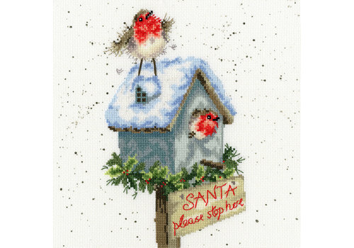 Bothy Threads Hannah Dale - Santa Please Stop Here